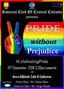 PRIDE Without Prejudice @ pin Amra Odbhuth Café and Collective 27A Jadavpur East Road, Kolkata 700032 | Kolkata | West Bengal | India